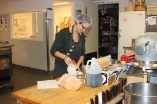 3) Sarah in the kitchen