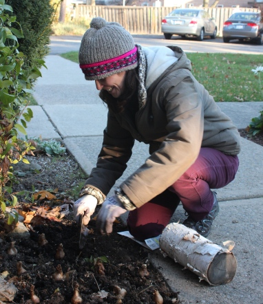 4) Chrstine gardening in the late fall